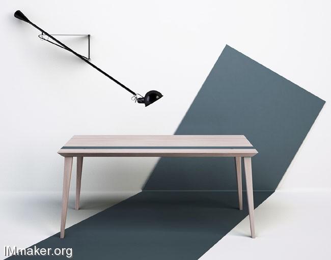带存储空间的Tavolo RE极简餐桌创意设计