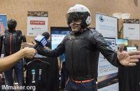 摩托车专用安全气囊背心:充气只需100毫秒