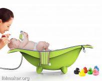 洗头&洗澡双用儿童沐浴盆创意设计