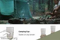 可放置在任何表面的沙袋杯Camping Cup