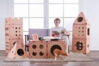 BoxKitty创意模块化的猫屋创意设计