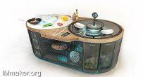 Stefano Spinella设计的一体化概念厨房OTTO