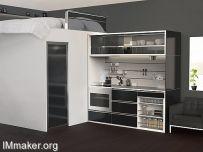 Jolee Nebert设计的高度集成化迷你厨房