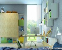 大量存储空间的多彩儿童房设计