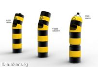 创意垃圾桶设计:路障