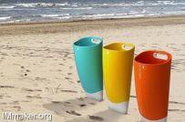 创意沙滩垃圾桶设计