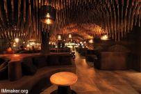 索非亚Hookah Bar木制天花板的酒吧空间创意设计