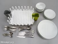 Scott Jarvie设计的创意餐具容器Dish Drainer