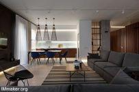 Wood & Marble优雅简洁的公寓空间创意设计