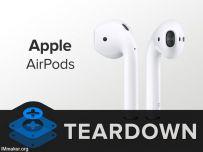 AirPods耳机拆解:坏了就别想修了
