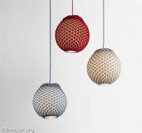 迷人的针织灯具