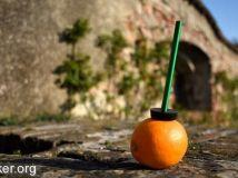 用一根MR.ORANGE吸管就能喝橙汁,我买!