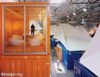 集装箱帐篷的慈善机构Pallotta TeamWorks创意办公空间