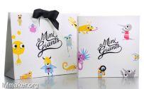 Mini Giants儿童品牌购物袋创意设计