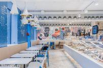 优雅壁画灵感的莫斯科Karavaevi兄弟咖啡馆