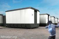 Designnobis设计的可收缩折叠的避难房屋