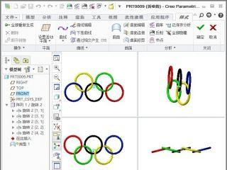 奥运五环---阵列教程