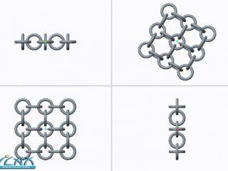 如何在Creo中实现铁环网的阵列?