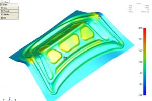 基于JSTAMP的板材拉伸成形及回弹仿真