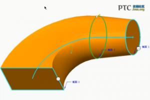Creo 通过选择截面来创建扫描混合 [Creo Parametric 1.0 视频教程]