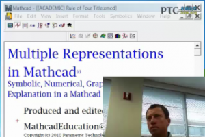 Using Multiple Representations to Explore Mathematics with Mathcad 15.0