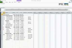 PTC Windchill ProjectLink 在 Microsoft Project 中编辑 Windchill 项目