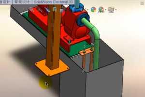 SOLIDWORKS Electrical 3D基于电气原理图创建3D电气系统 视频教程
